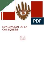 Evaluación Catequesis 2015-2016