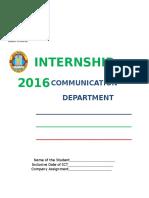 Communication Manual 2016