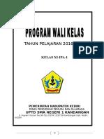 Programa Kerja Wali Kelas 2016_2017