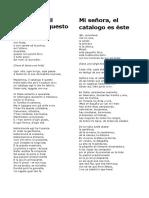Madamina , Il Catalogo è Questo - Mi Señora, El Catalogo Es Éste