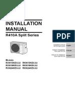 RXN RKN 15-18-24KEVJU Installation Manual