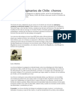 Pueblos Originarios de Chile Los Chonos