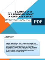 Dental Lamina Cyst in a Newborn Infant -.pptx