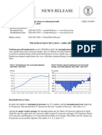 Employment Situation Report April 2010