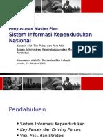 Ppt Master Plan Sistem Informasi Kependudukan Nasional 10 2000