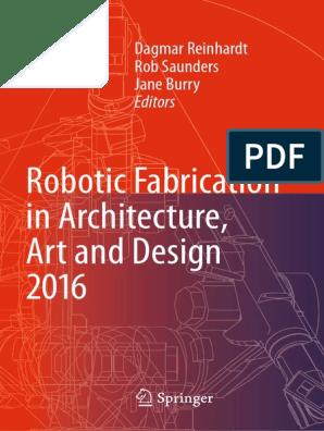 RobFabInArcArtAndDes201 | Robotics | Creativity