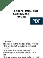 k-Epsilon turbulent model