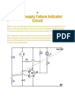 Power Supply Failure Indicator Circuit