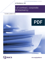 Termination of Contract Corporate Recovery and Insolvency 1st Edition PGguidance 2013