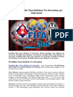 Prediksi Bola Cina Selatan Vs Juventus 30 Juli 2016