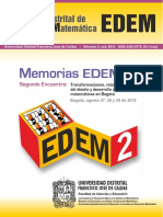 Memorias segundo encuentro distrital de educación matemática