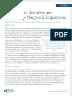 Seal Datasheet | M&A Process