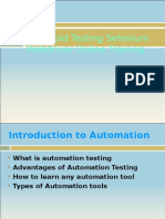 online Android Testing Selenium Webdriver training from India