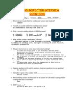 Welding Inspector Interview Questions