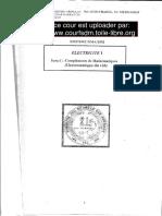 Course Lectrostatique & Electrocinetique Smpc s2
