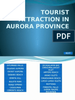 tourist attraction in aurora province