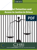 Pre Trial Detention and Access to Justice in Odisha