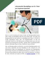 Holen Sie Sich Professionelle Mundpflege Von Dr. Peter Prechtel, Der Expert Implantat Spezialist