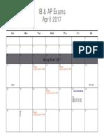 m2017 exam schedule