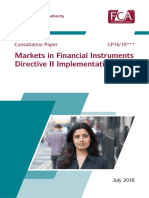 MiFID FCA Consultation 7.29.16