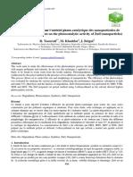 Influence du solvant sur l'activité photo-catalytique des nanoparticules de ZnO (Influence of solvent on the photocatalytic activity of ZnO nanoparticles)