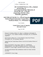 Motorcity of Jacksonville, Ltd., a Limited Partnership, by and Through Its General Partner Motorcity of Jacksonville, Inc., a Florida Corporation, David S. Hess v. Southeast Bank N.A., David Feigenbaum, Federal Deposit Insurance Corporation, as Receiver for Southeast Bank, N.A., 120 F.3d 1140, 11th Cir. (1997)
