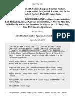 Quebell P. Parker v. Scrap Metal Processors, 386 F.3d 993, 11th Cir. (2004)