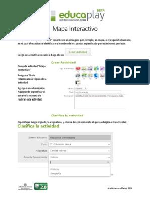 Como Hacer Un Mapa Interactivo Educaplay Point And Click Software