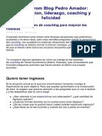 Pedro Amador_ Mejorar Las Finanzas