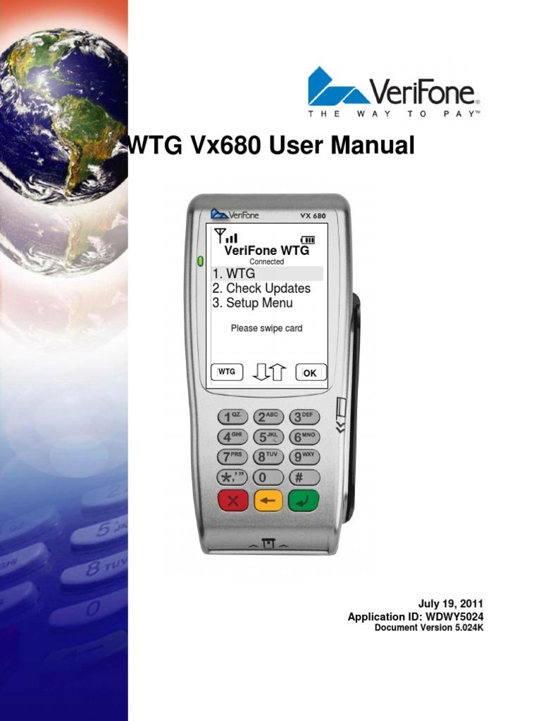 vx680wtg user manual vers 5 024k pdf debit card debits and credits rh scribd com Vx670 Quick Reference Guide Vx670 Quick Reference Guide