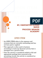 Open Item Management in Sap