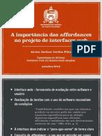 A importância das affordances no projeto de interfaces web