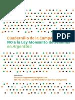 Cuadernillo de La Campaña No a La Ley Monsanto de Semillas en Argentina