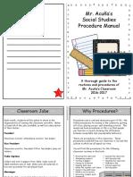 classroom procedure manual