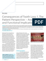 Dental Update 2009. Consequences of Tooth Loss 1. the Patient Perspective Aesthetic and Functional Implications