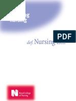 Defining Nursing