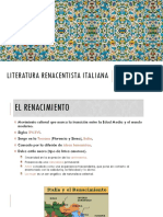 Literatura Renacentista Italiana