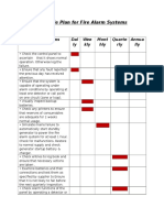Schedule Plan for Fire Alarm Systems
