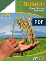 Boletín agroclimatico julio 2016