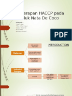 HACCP Pada Produk Nata de Coco