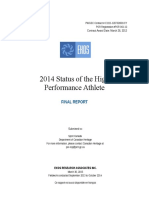 2014 Status of the High Performance Athlete Study