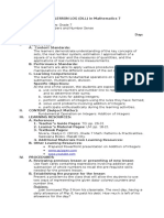 Grade 7-Fundamental Operation on Integers- Addition of Integers