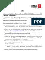 5810 -IOHC Notice 13 Mar
