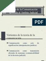 Teoría de La Comunicación Aplicado Al Ambito Judicial