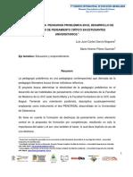 Efectividad de la Pedagogía Problémica en el Desarrollo de Habilidades de Pensamiento Crítico en Estudiantes Universitarios