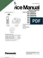 KX TG9341BX Service Manual