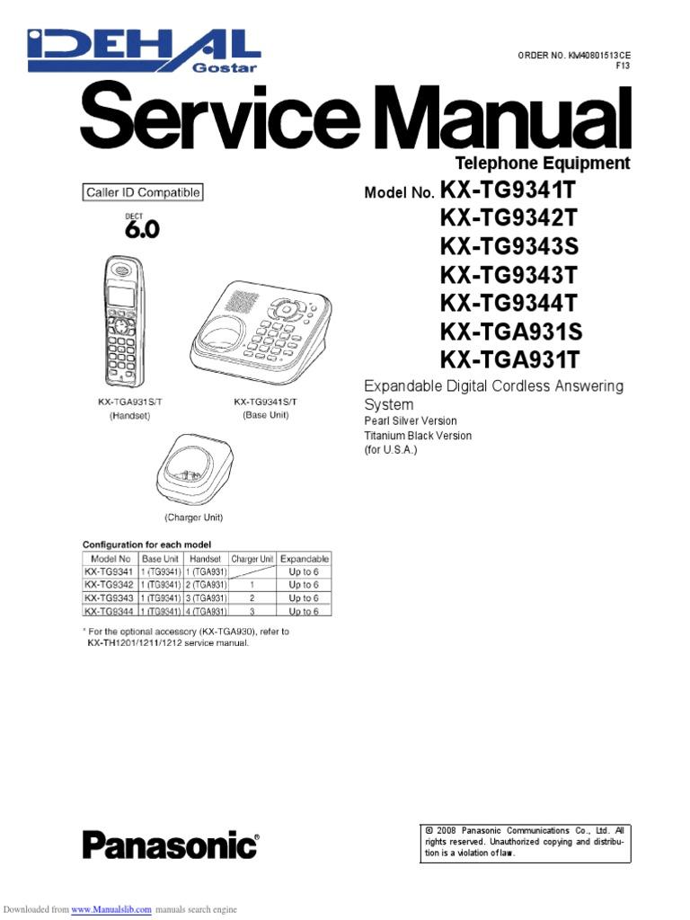 Panasonic product support kx-tg2357b.