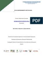 El Centro de Emprendimiento Institucional - Aleyda García