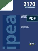 Td 2170 IPEA Estabilidade Desigualdade Brasil 2006 e 2012