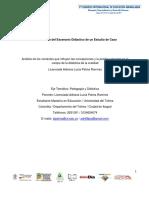 Análisis de los contextos que influyen las concepciones y la práctica docente en el campo de la didáctica de la oralidad